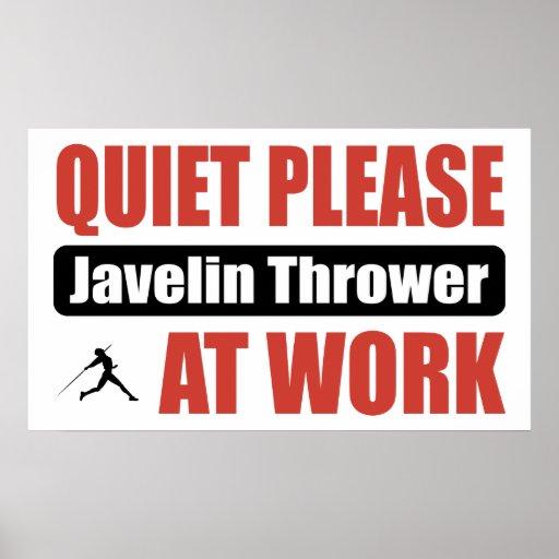 De la tranquilidad lanzador de jabalina por favor  poster