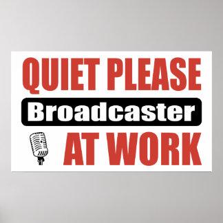 De la tranquilidad locutor por favor en el trabajo impresiones