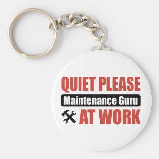 De la tranquilidad mantenimiento Guru por favor en Llavero Redondo Tipo Pin