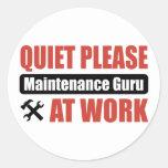 De la tranquilidad mantenimiento Guru por favor en Pegatinas