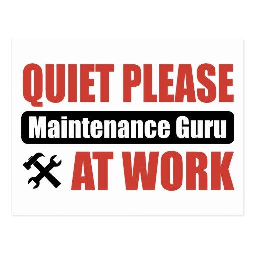 De la tranquilidad mantenimiento Guru por favor en Postales