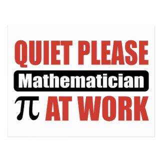 De la tranquilidad matemático por favor en el postal