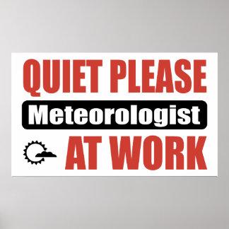 De la tranquilidad meteorólogo por favor en el tra poster