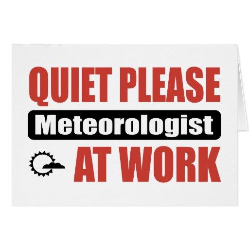 De la tranquilidad meteorólogo por favor en el tra tarjeta de felicitación