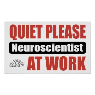 De la tranquilidad neurólogo por favor en el traba póster