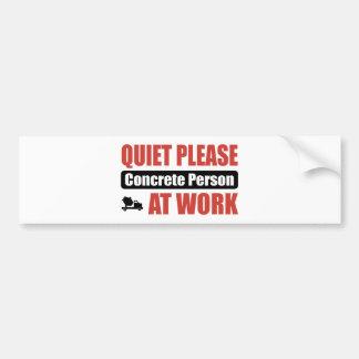 De la tranquilidad persona concreta por favor en e pegatina de parachoque