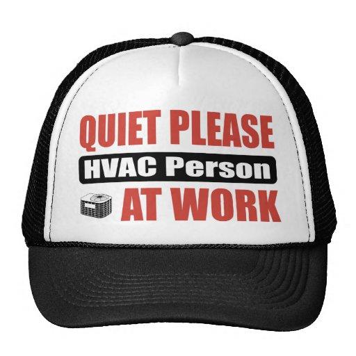 De la tranquilidad persona de la HVAC por favor en Gorra