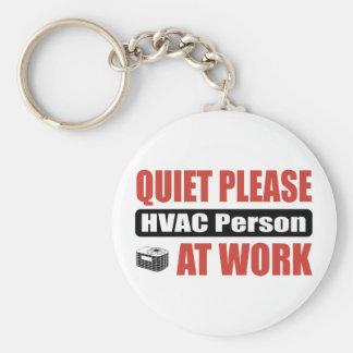 De la tranquilidad persona de la HVAC por favor en Llavero Redondo Tipo Pin