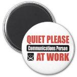 De la tranquilidad persona de las comunicaciones p imán para frigorifico