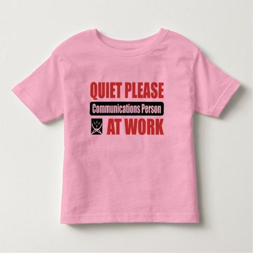 De la tranquilidad persona de las comunicaciones t-shirts