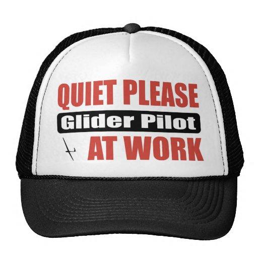 De la tranquilidad piloto de planeador por favor e gorra