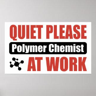 De la tranquilidad químico del polímero por favor  póster