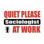 De la tranquilidad sociólogo por favor en el traba tarjetas postales