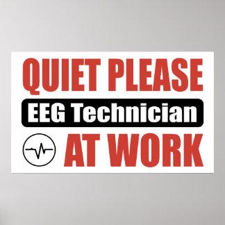 De la tranquilidad técnico por favor EEG en el tra Poster