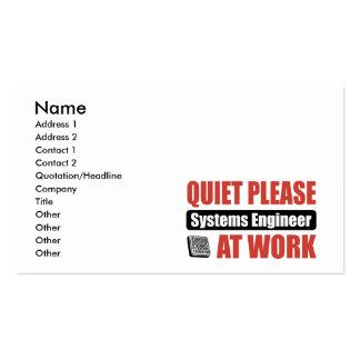 De la tranquilidad técnico por favor en el trabajo tarjetas de visita