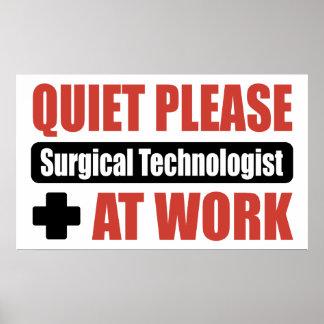 De la tranquilidad tecnólogo quirúrgico por favor posters