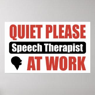 De la tranquilidad terapeuta de discurso por favor posters