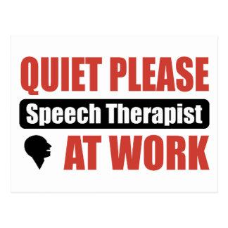 De la tranquilidad terapeuta de discurso por favor postales