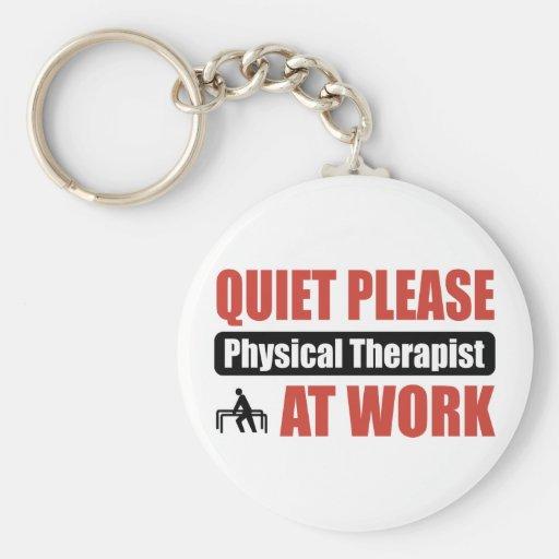 De la tranquilidad terapeuta físico por favor en e llavero redondo tipo pin