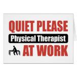 De la tranquilidad terapeuta físico por favor en e tarjetón