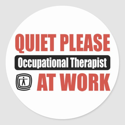 De la tranquilidad terapeuta profesional por favor pegatinas redondas