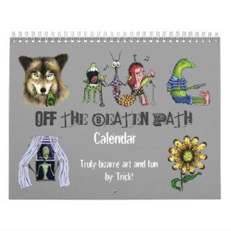 De la trayectoria batida - arte extraño 'diversión calendario