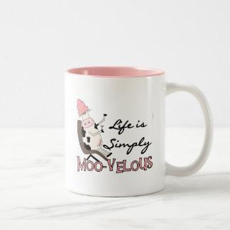 De la vaca camisetas MOO-velous y regalos simpleme Taza De Café