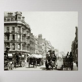 De la visión calle de Oxford abajo, Londres (foto  Póster