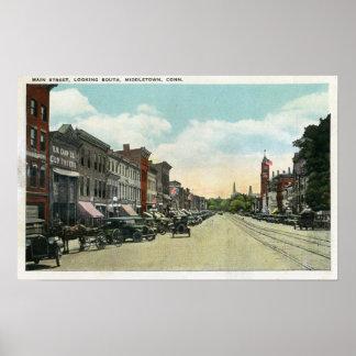 De la visión calle principal meridional abajo póster