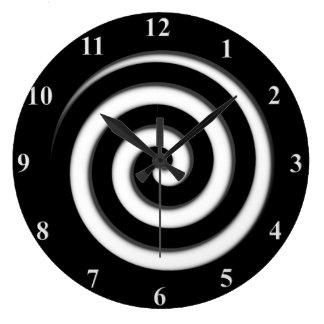 De la zona reloj de pared espiral negro de Hypno