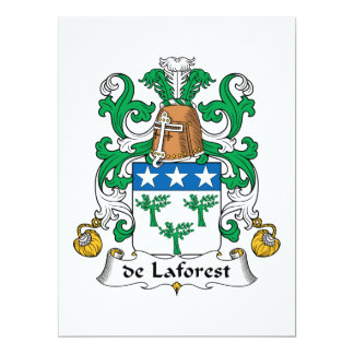 de Laforest Family Crest Card