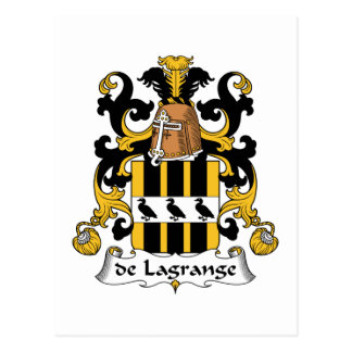 de Lagrange Family Crest Postcard
