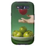 dé lanzar la manzana roja en el aire y el verde galaxy SIII protectores