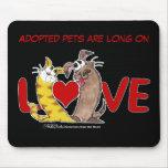 De largo en Amor-Gato y perro Tapetes De Ratones