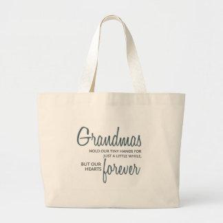 De las abuelas azul para siempre bolsa tela grande