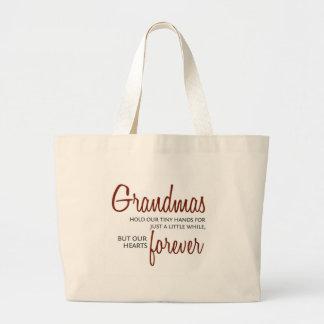 De las abuelas rojo para siempre bolsa tela grande