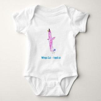 De las alas cabeza hacia fuera - PARA ARRIBA Mameluco De Bebé