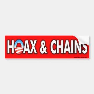 de las cadenas de Obama pegatina para el parachoqu Etiqueta De Parachoque