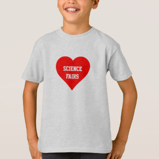 """De las """"camiseta ferias de ciencia"""" del amor playera"""