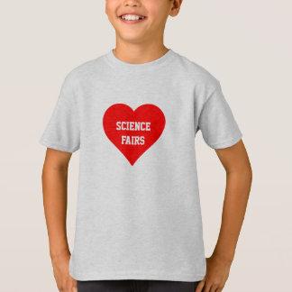 """De las """"camiseta ferias de ciencia"""" del amor remeras"""