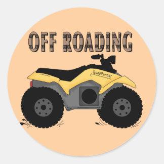 De las camisetas y de los regalos de Roading Etiquetas Redondas