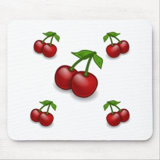 De las cerezas diseño a montones tapetes de raton