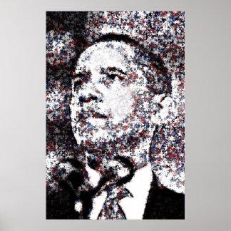 De las estrellas blancas de Barack Obama poster ro