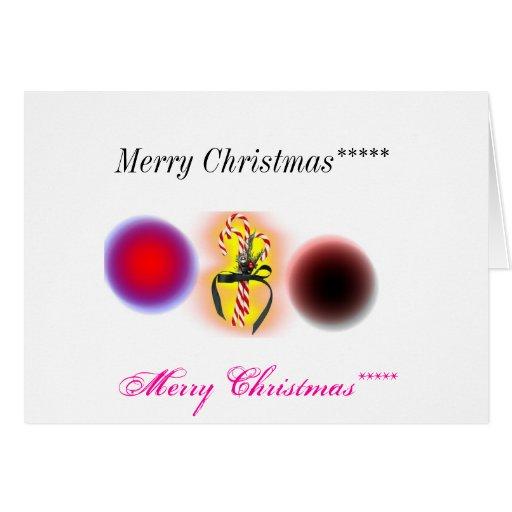 ***** de las Felices Navidad, ***** de las Felices Tarjetón