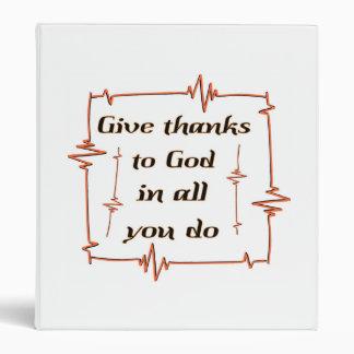 """Dé las gracias al cristiano de dios carpeta 1"""""""