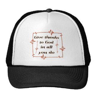 Dé las gracias al cristiano de dios gorras