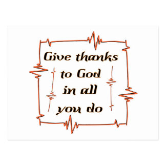 Dé las gracias al cristiano de dios postal