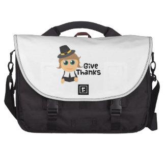 Dé las gracias bolsas para portatil