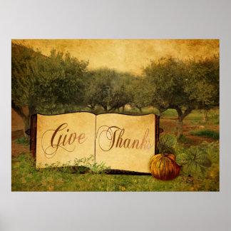 Dé las gracias por acción de gracias posters