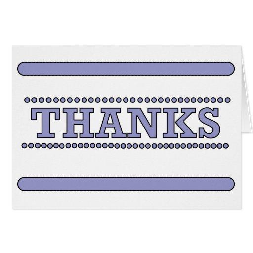 De las gracias tarjeta claramente